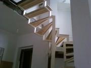 Лестницы, из дерева, металла, бетона.