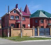 Кирпичный дом в трех уровнях