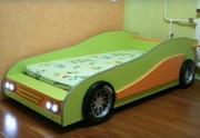 Кровать детская  в виде гоночной машины