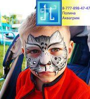 Аквагрим. Рисунки на лице для детей. Грим. Фото.