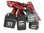 USB зарядное устройство встраиваемое в панель для ВАЗ,  Газель NEXT,  Валдай